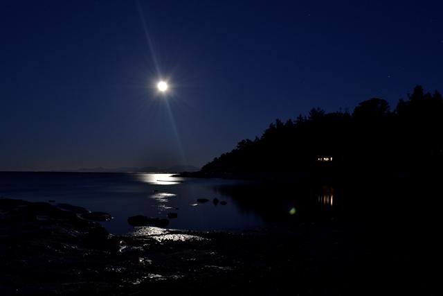Hornby Island  - Sandpiper Beach bei Nacht