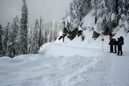 Snowshoeing auf Grouse Mountain, North Vancouver