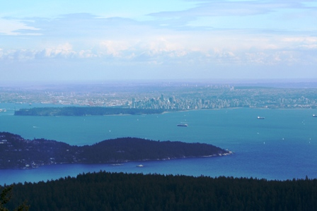 View from Mt. Gardner, Bowen Island