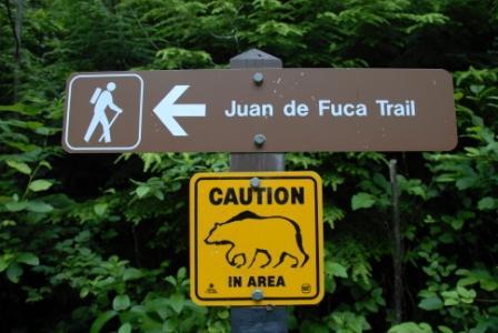 Juan de Fuca Trail - Schild