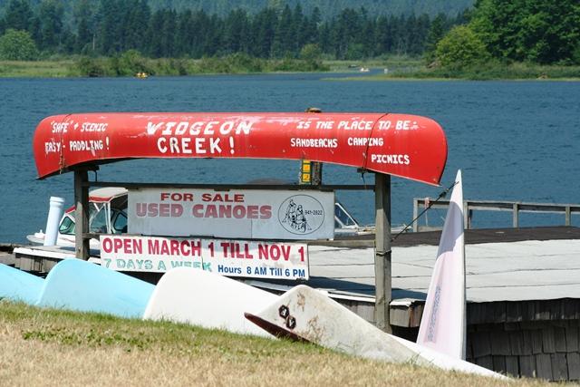Widgeon Creek Kanuverleih