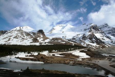 Athabasca Gletscher, kanadische Rocky Mountains