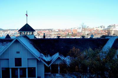 Blick aus unserem Zimmer auf der 7. Etage