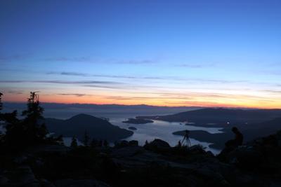 Sonnenuntergang auf den Vancouver Lions