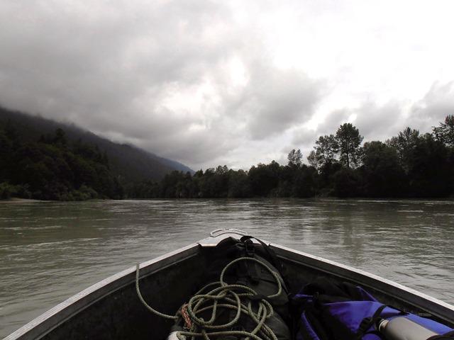 Ueberquerung des Squamish River