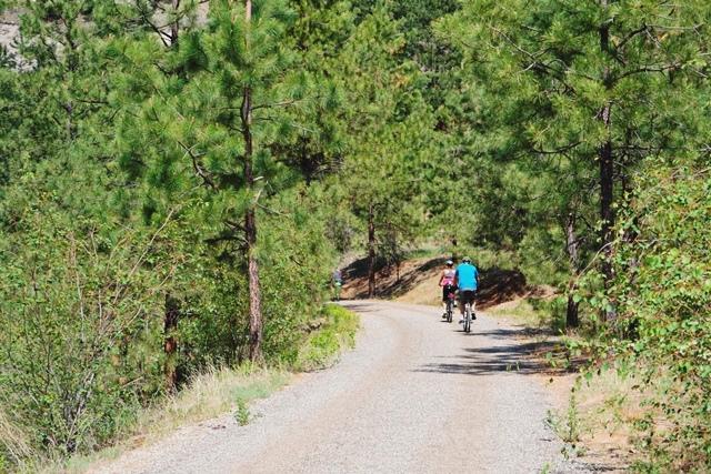 Radfahren auf dem Kettle Valley Trail