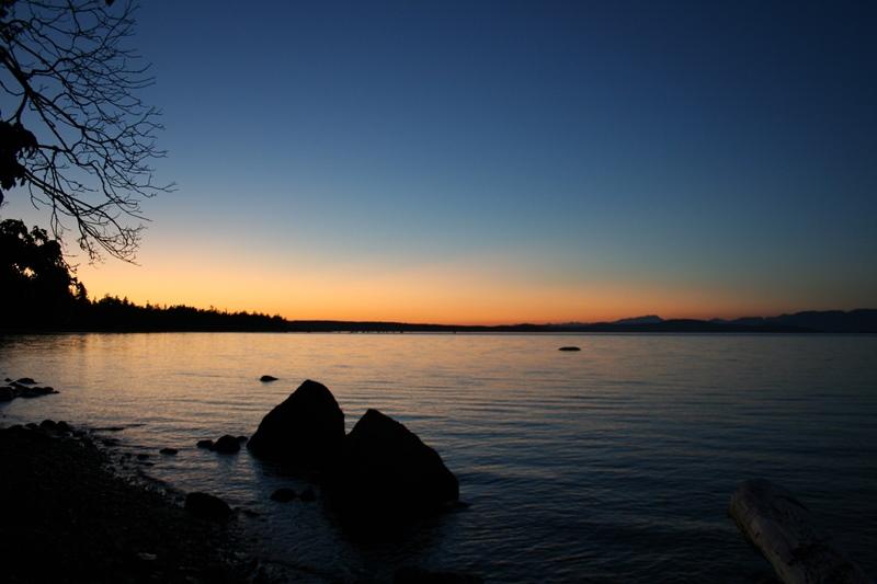 Savary Island Sonnenuntergang