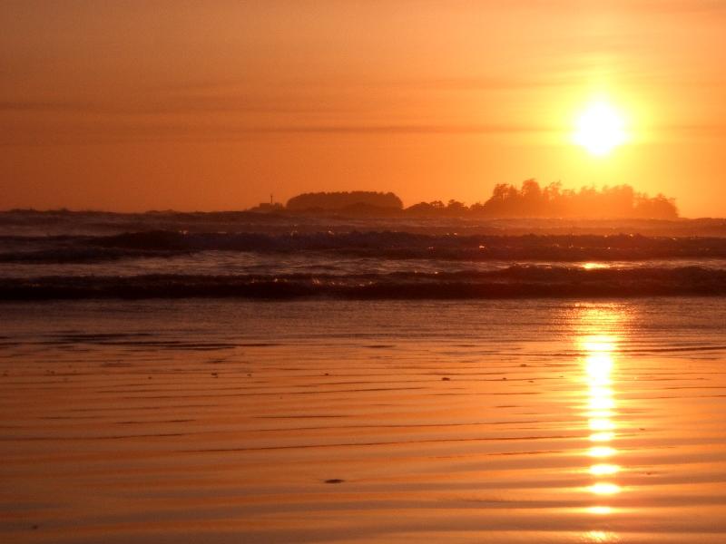Sonnenuntergang in Tofino