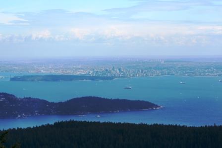 View from Mt. Gardner, Bowen Island