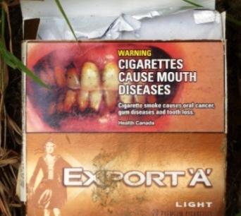 Zigarettenschachtel Kanada